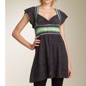 Free People | Knit Fair Isle Nordic Skater Dress
